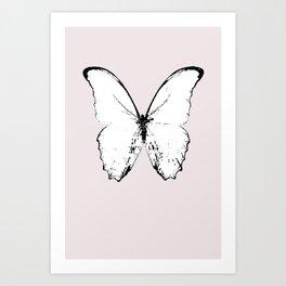 buttefly fly fly away Art Print