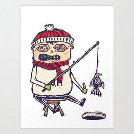 Ice Fisher Art Print