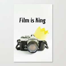 Film is King Canvas Print