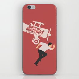 North by northwest, Alfred Hitchcock minimalist movie poster, thriller, Cary Grant, Eva Marie Saint iPhone Skin