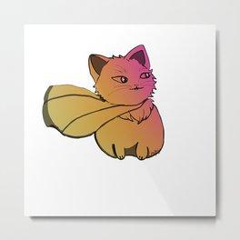Superhero cat pink-yellow gradient  Metal Print