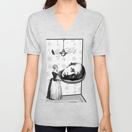 Tea Party for the Super-males. (Saint John the Baptist Martyr) Unisex V-Neck