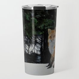 Red Fox of Algonquin by Teresa Thompson Travel Mug