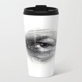 Eye Study Sketch 4 Metal Travel Mug