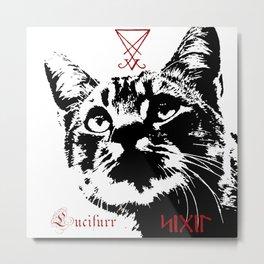 CAT METAL : Lucifurr - SIGIL Metal Print