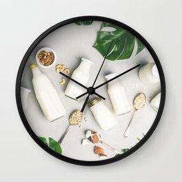 Dairy free milk substitute drinks Wall Clock