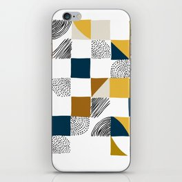 Square, Dots and Lines iPhone Skin