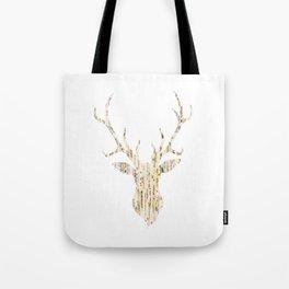 Upcycled Reindeer Tote Bag