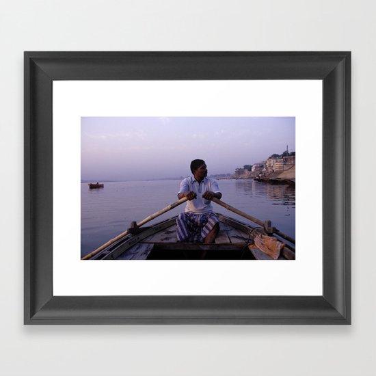On The Ganges Framed Art Print
