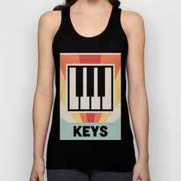 Vintage Style KEYS Poster | Synthesizer Design Unisex Tank Top