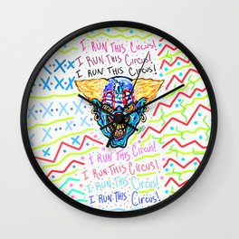 The Head Clown In Charge  Wall Clock