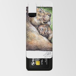 Lioness and Cub Android Card Case