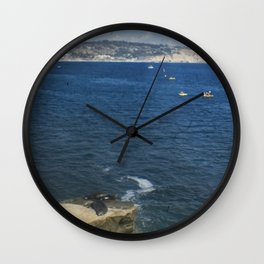 Kayakers in the Cove Wall Clock