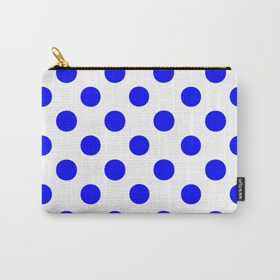 Polka Dots (Blue/White) Carry-All Pouch