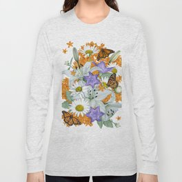 Butterfly Weed and Monarchs Long Sleeve T-shirt