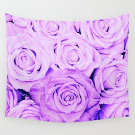 Some people grumble - Floral Ultra Violet Rose Roses Flowers Wall Tapestry