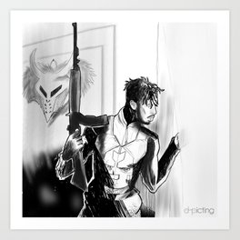 Killonger x Malcom X Art Print
