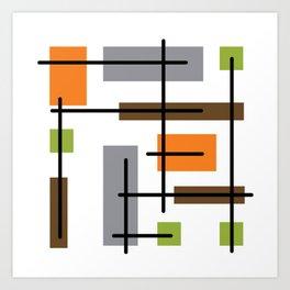 Mid Century Modern Cubicle Art Art Print