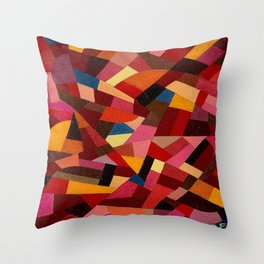 Komposition 1940 Mid Century Modern Abstract Geometric Colorful Pattern Painting Otto Freundlich Throw Pillow