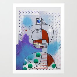 Five eyes. Art Print