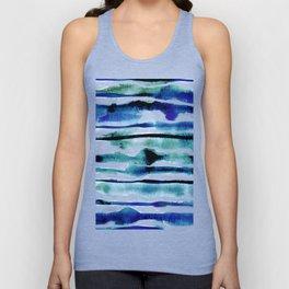 Laguna Watercolor Stripe Unisex Tank Top