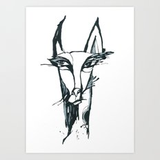face of the animals Art Print