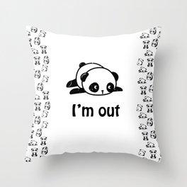 I'm out – Cute panda design Throw Pillow
