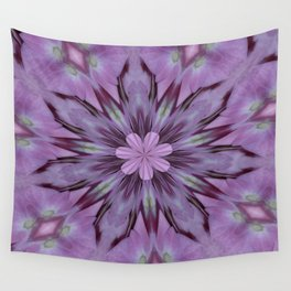 Floral Abstract Of Pink Hydrangea Flowers Wall Tapestry