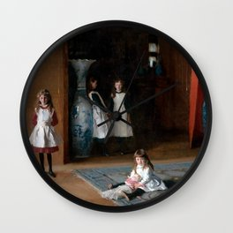 John Singer Sargent The Daughters of Edward Darley Boit 1882 Wall Clock