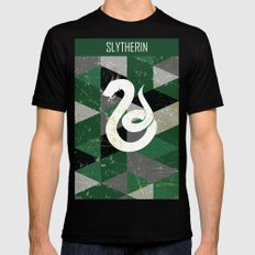 Slytherin House Pattern MEDIUM Mens Fitted Tee Black