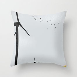 green wagon Throw Pillow