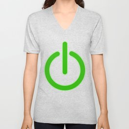 """A Perfect Gift For Anyone Who Loves Waiting Or Being On Standby """"Power Standby Button"""" T-shirt Unisex V-Neck"""