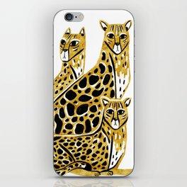 Gold Cheetahs iPhone Skin