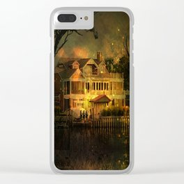 Spooky Boathouse Clear iPhone Case