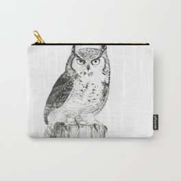 My great horned owl: Nuit Carry-All Pouch