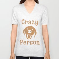 Crazy Dog Person [FOR WHITE] Unisex V-Neck