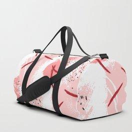Pink red splash Duffle Bag