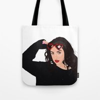 charli xcx Tote Bags featuring Charli XCX by BUGS