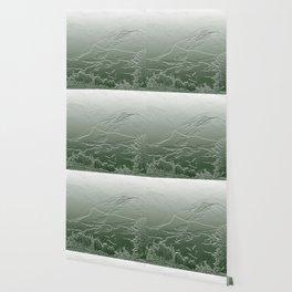 Mount Rainier Bas Relief Wallpaper