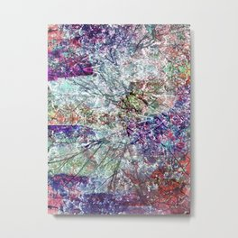 Technicolour Cherry Blossom Metal Print