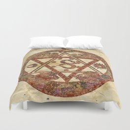 Sacred and Ancient Symbolism by PB Duvet Cover