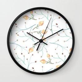 Delicate pimpo floral print Wall Clock