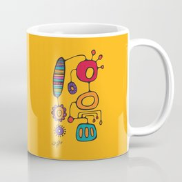 Feather Flower Chime in Color Coffee Mug