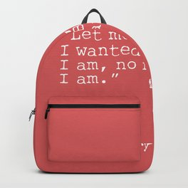 Henry Miller quote Backpack
