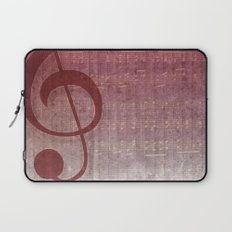 Red Pink Grunge Music Sounds Laptop Sleeve