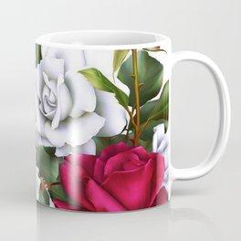 Red & White Roses Coffee Mug