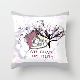 No guards when we dream... Throw Pillow