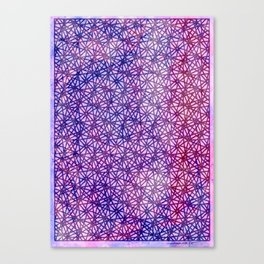 Sqaure Flowers Canvas Print