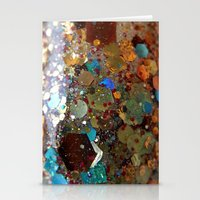 holographic Stationery Cards featuring Sistine Chapel holographic glitter macro by MDJcreations
