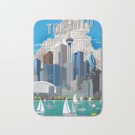 Toronto Skyline wide Bath Mat